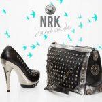 New Rock High Heels Pumps und Taschen